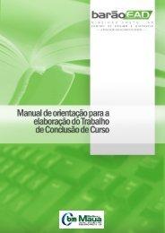 Manual para TCC-EAD. - Centro Universitário Barão de Mauá