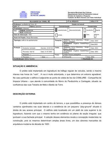 Rua Barão da Torre, 42 - Portal da Prefeitura da Cidade do Rio de ...