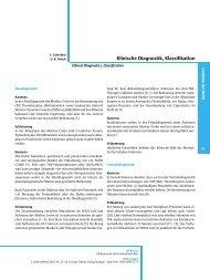 Klinische Diagnostik, Klassifikation - DGVS