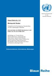 Blaue Reihe - Deutsche Gesellschaft für die Vereinten Nationen eV