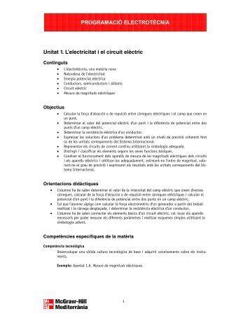 PROGRAMACIÓ ELECTROTÈCNIA Unitat 1. L ... - McGraw-Hill