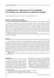 Complicaciones respiratorias de la tetraplejia - SciELO