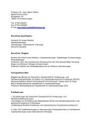 Professor Dr. med. Martin Staritz Medizinische Klinik I ... - DGVS