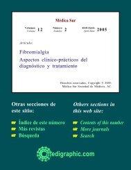 Fibromialgia Aspectos clínico-prácticos del ... - edigraphic.com