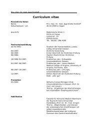 Curriculum vitae - DGVS