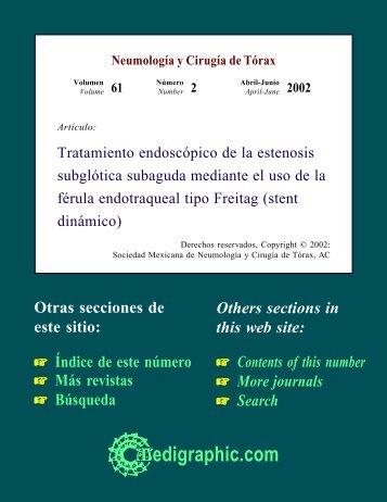 Tratamiento endoscópico de la estenosis ... - edigraphic.com