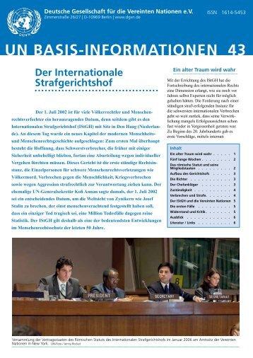 un basis-informationen 43 - Deutsche Gesellschaft für die Vereinten ...