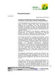 Deutsche Gesellschaft für Versicherte und Patienten/ DGVP ... - DGVS