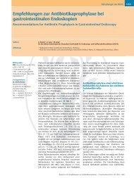 Empfehlungen zur Antibiotikaprophylaxe bei ...  - DGVS