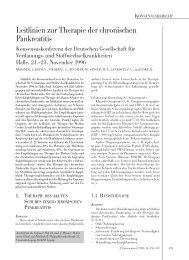 Leitlinien zur Therapie der chronischen Pankreatitis - DGVS