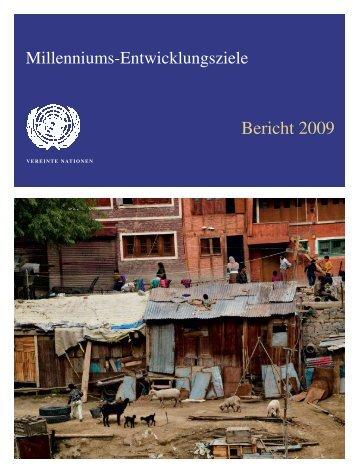 Millenniums-Entwicklungsziele - Bericht 2009