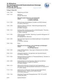 19. Winterkurs der Arbeitsgemeinschaft Gastrointestinale ... - DGVS