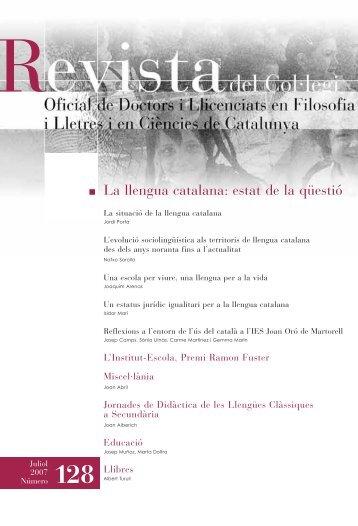 La llengua catalana - Col·legi Oficial de Doctors i Llicenciats de ...