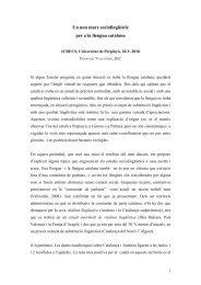 Un nou marc sociolingüístic - Blogs de l'Institut d'Estudis Catalans