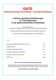Gastroenterologie-Ausbildung - Training Endoskopie ... - DGVS