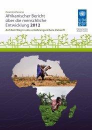Afrikanischer Bericht über die menschliche Entwicklung - Deutsche ...
