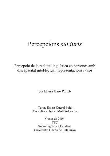 Percepcions sui iuris - Cultura a Menorca