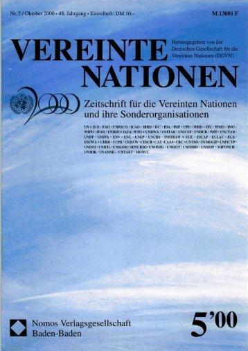 finden Sie das komplette  Heft VN 5 - Deutsche Gesellschaft für die ...