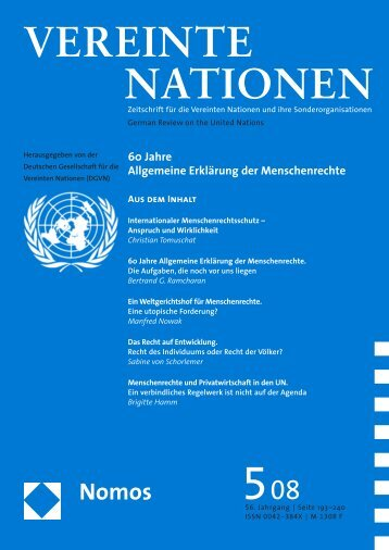 VEREINTE NATIONEN - Deutsche Gesellschaft für die Vereinten ...
