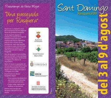 Programa de Festes Majors - Ajuntament de Rasquera