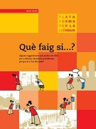 Guia: Què faig si...? (nova versió) - Plataforma per la Llengua