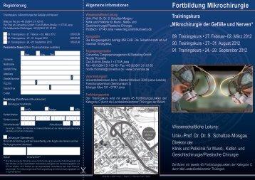 Fortbildung Mikrochirurgie