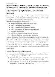 Temporäre Versorgung für festsitzenden Zahnersatz - Deutsche ...