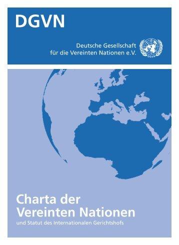 UN-Charta - Deutsche Gesellschaft für die Vereinten Nationen eV