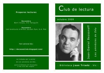 Club de lectura - Biblioteca Joan Triadú