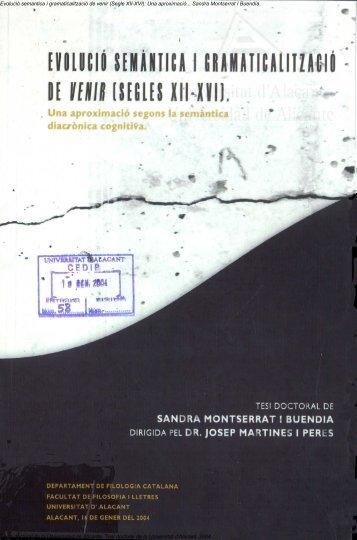 (Segle XII-XVI): Una aproximació... Sandra Montserrat I Buendía ...