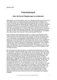 Potenzialanalyse als PDF-Download - dr. hahn & partner