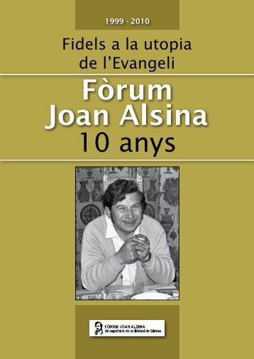 Llibre - Fòrum Joan Alsina