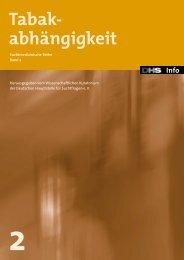 Tabak- abhängigkeit - Deutsche Hauptstelle für Suchtfragen e.V.