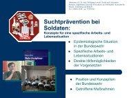 Suchtprävention in der Bundeswehr
