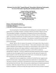 Tangled Strands - Socrates - University of California, Berkeley