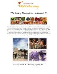 The Spring Processions of Korcula ™ - Visit Croatia