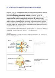 Die Periradikuläre Therapie (PRT, Behandlung der Nervenwurzel)