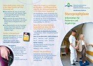 Sturzprophylaxe - Diakonissenkrankenhaus Karlsruhe-Rüppurr