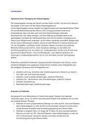 Carotis-Stent Symptome einer Verengung der Halsschlagader Die ...