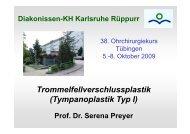 Tympanoplastik Typ I - Diakonissenkrankenhaus Karlsruhe-Rüppurr