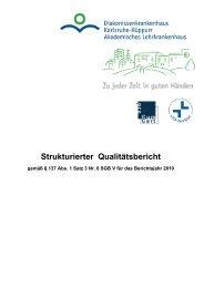 Qualitätsbericht 2010 - Diakonissenkrankenhaus Karlsruhe-Rüppurr