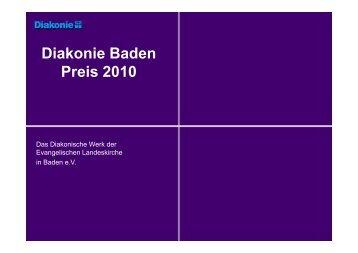 Diakonie Baden Preis 2010