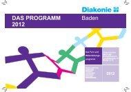 DAS PROGRAMM 2012 Baden - Diakonie Baden