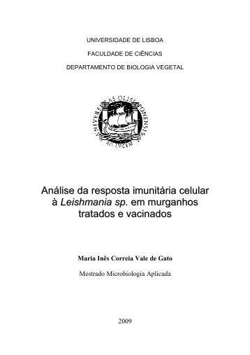 Análise da resposta imunitária celular à Leishmania sp. em ...