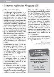 Siebenter regionaler Pflegetag 2011 - Diakonie Bautzen