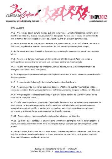 85.3052.9900 I www.deentretenimento.com.br ... - Corrida do Batom
