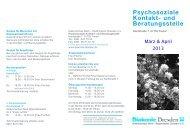 Psychosoziale Kontakt- und Beratungsstelle - Diakonie Dresden