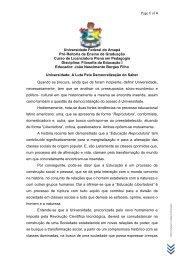 Universidade - A Luta pela Democratização do Saber - Unifap
