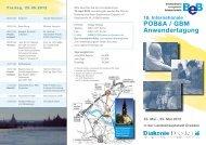 16. Internationale POB&A / GBM Anwendertagung - Diakonie Dresden
