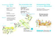 Monatsprogramm März / April 2013 - Diakonie Dresden